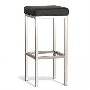 Black top bar stool